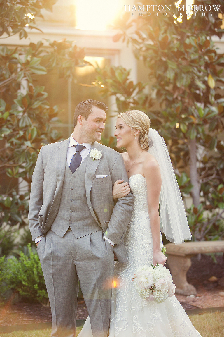 romantic bride and groom portrait at chapel ana villa