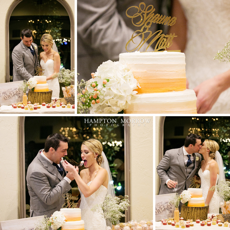 cutting the cake at chapel ana villa
